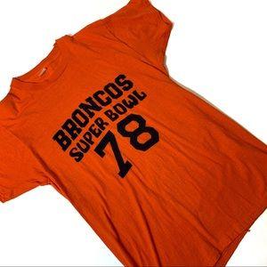 Vintage 70s Denver Broncos Super Bowl Tee